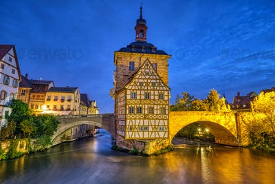 The beautiful Old Town Hall of Bamberg