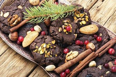 Festive chocolate cookie