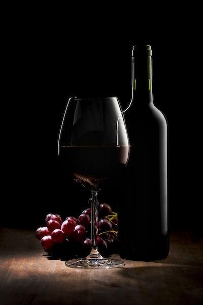 Luxury Red Wine No Label