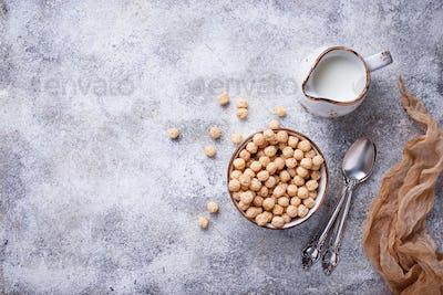 Sweet corn flakes ball for breakfast