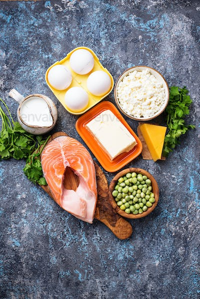 Healthy foods containing vitamin D