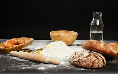 Traditional Baking Background