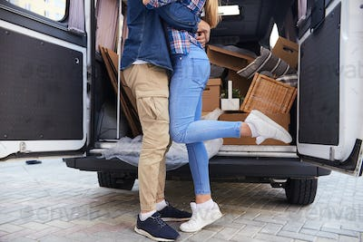 Kissing Couple Moving Out