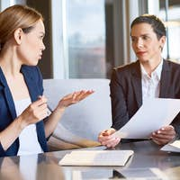 Financial Managers Focused on Work