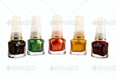 Nail polish colored