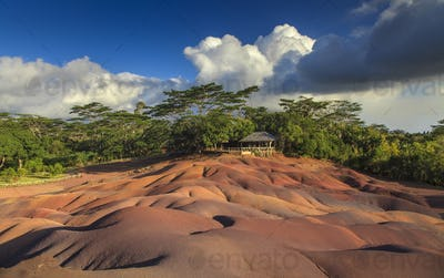 Color Sands on the island of Mauritius