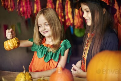 Do you like my decorated pumpkin?