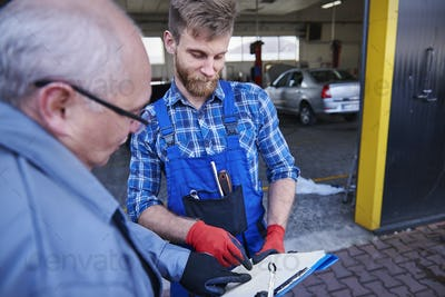 Planning monthly duties of cars mechanics