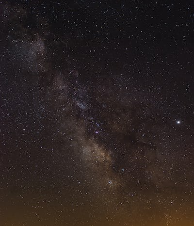 The Milkyway Core with Jupiter on the right side