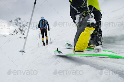 Ski mountaineering boot