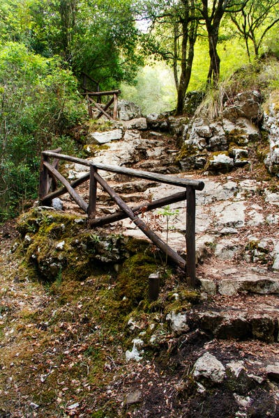 Stone stairs in the natural reserve of Morigerati
