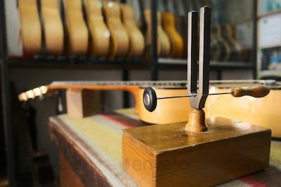 Classic Guitar For Flamenco In Lute Maker Shop