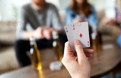Best gamble in poker or lucky hand concept