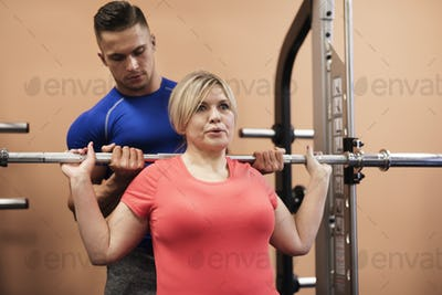 Gym in mature age only with instructor
