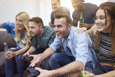 Video game as typical man entertainment