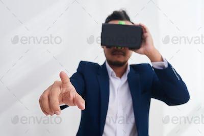Using VR interface