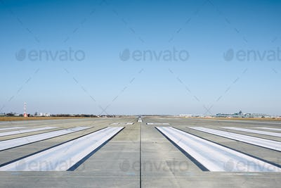 Surface level of airport runway