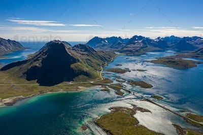 Fredvang Bridges Panorama Lofoten islands