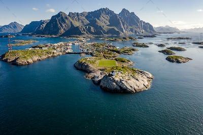 Henningsvaer Lofoten is an archipelago in the county of Nordland