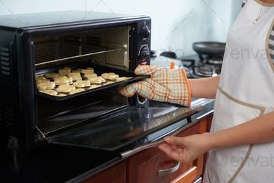 Woman Baking Homemade Cookies