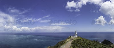 Cape reinga New Zealand lighthouse landscape