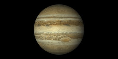 jupiter planet gas giant black background