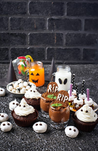Assortment of Halloween treat for  party