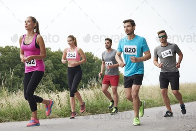 Amateur runners on the move