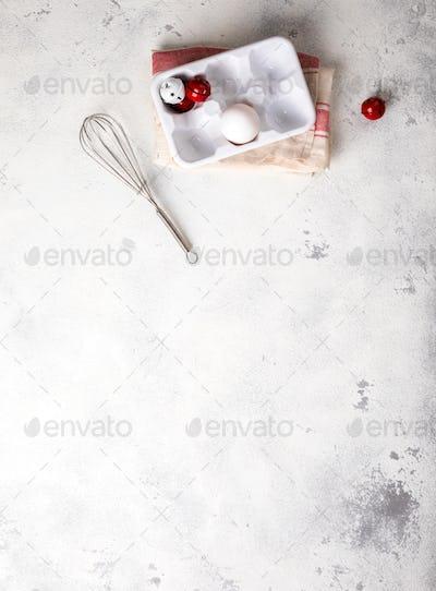 Merry Christmas.Baking Background.