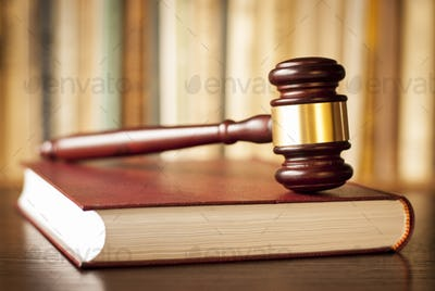 Judges gavel on a law book