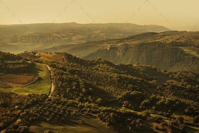 Fall Time Tuscany Landscape