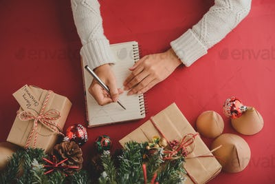 Composing gift list before Christmas