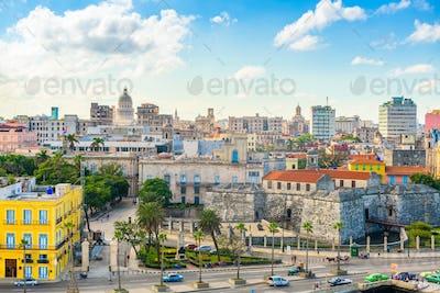 Havana, Cuba downtown skyline