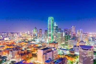 Dallas, Texas, USA Skyline at twilight