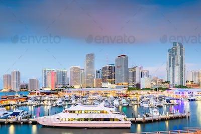 Miami, Florida, USA downtown skyline