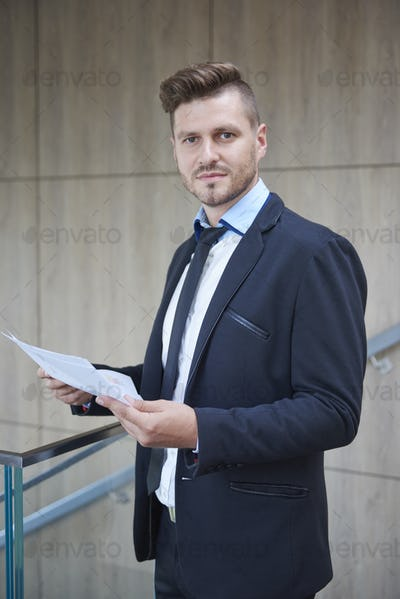 Man in suit in the company