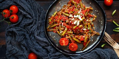 French beans with tomato