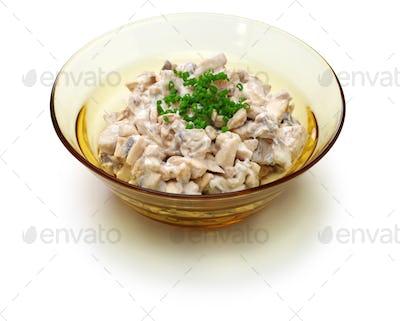 sienisalaatti, finnish mushroom salad isolated