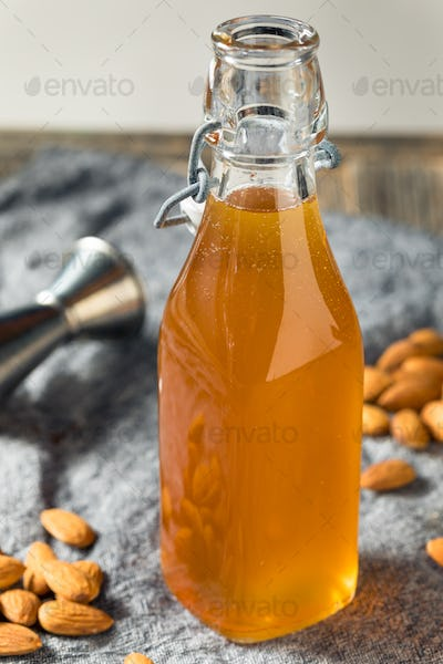 Homemade Organic Almond Orgeat Syrup