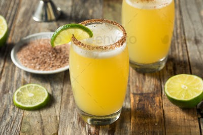 Mexican Beer and Lime Michelada Cocktail