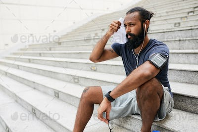 Tired Runner After Workout