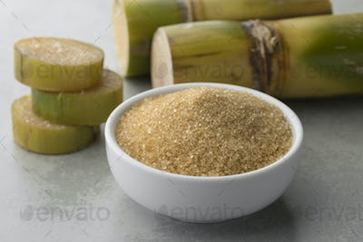 Bowl with cane sugar