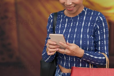 Texting woman