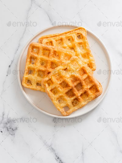 Savory keto two ingredients waffles - chaffles