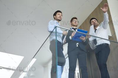 Partnership among three young businessmen