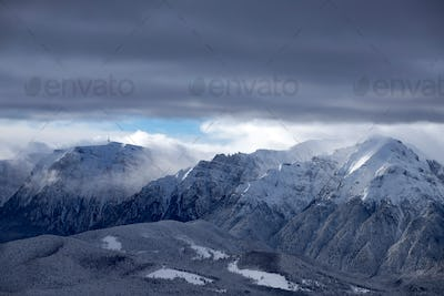 Panoramic view of Bucegi Mountains, Carpathian Mountains