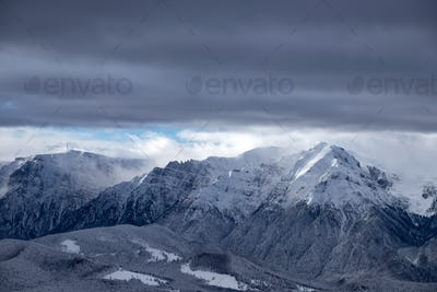 Panoramic view of Bucegi Mountains, Carpathian Mountains