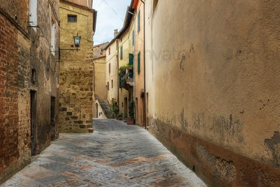 Picturesque streets of Pienza