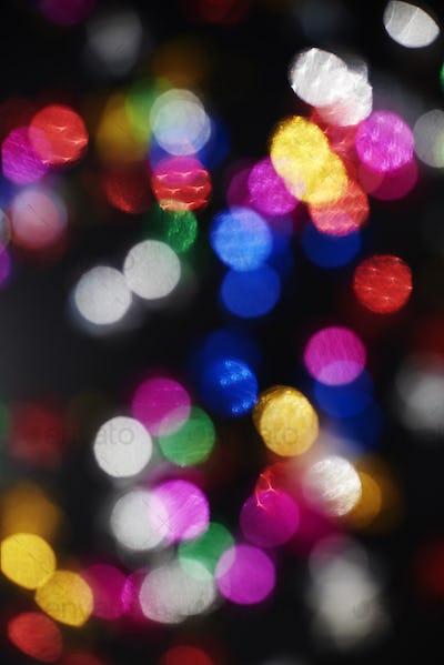 Defocused view of New Years lights