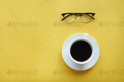 Good mornig with cup of coffee